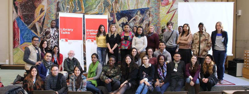 MA students, with course director Dr Rama Mani, musician Paul Grant, UNOG Library and WFC staff