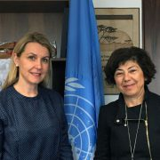 UNCCD Monique Barbut and Alexandra Wandel FPA 17