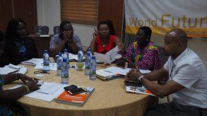 Arbeitsgruppen während des Workshops für das Ghana Kinderschutzsystem