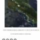 Cover of the report 100% Renevable Energy in Costa Rica - A Decarbonisation Roadmap. The cover shows the title and a satellite image of the country of Costa Rica