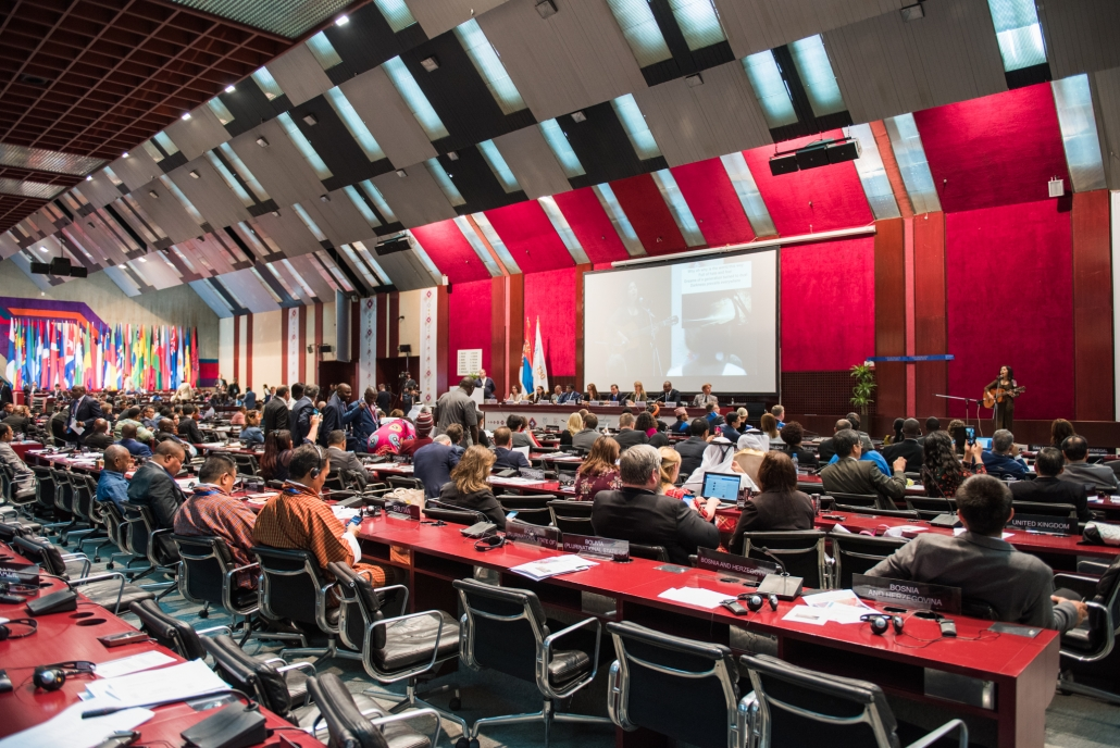 Der Future Policy Award: Aufnahme des Verleihungssaals mit vielen Pressevertretern