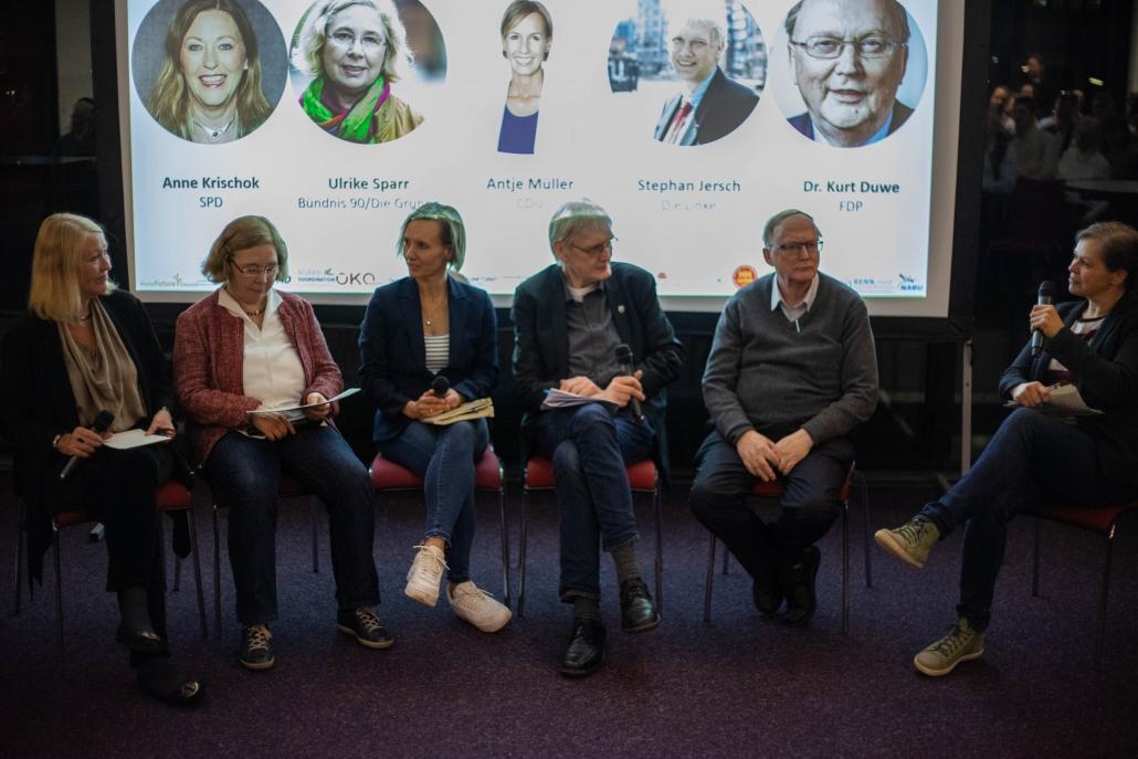 gesunde und umweltfreundliche Ernährung: VertreterInnen von SPD; Bündnis 90/Die Grünen, CDU, die Linke und FDP