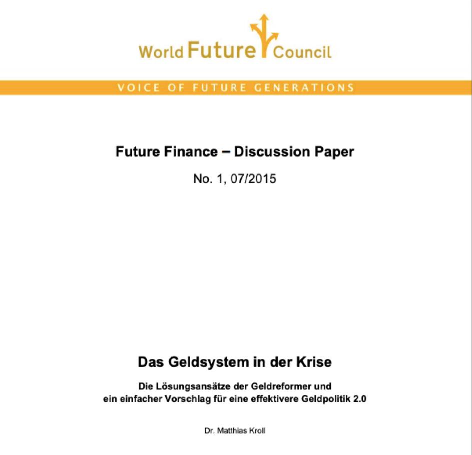 Future Finance Discussions Papier